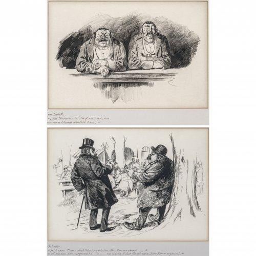 Engl, Josef Benedikt. Zwei Karikaturen: