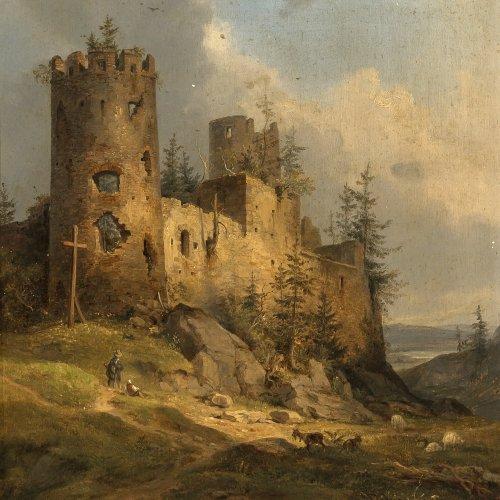 Lebschée, Carl August, Gemälde Schloss Hohenfreyberg