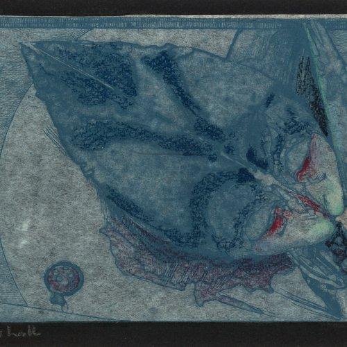Janssen, Horst. Svanshall. Farbradierung. 11,5 x 18 cm. Monogr., dat. 76.